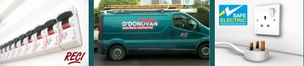 Paddy O'Donovan Electrical Contractor, Kinsale, Co. Cork  for all electrical installations, servicing & repair. Member of the Register of Electrical Contractors ensuring that you enjoy Safe Electric installations